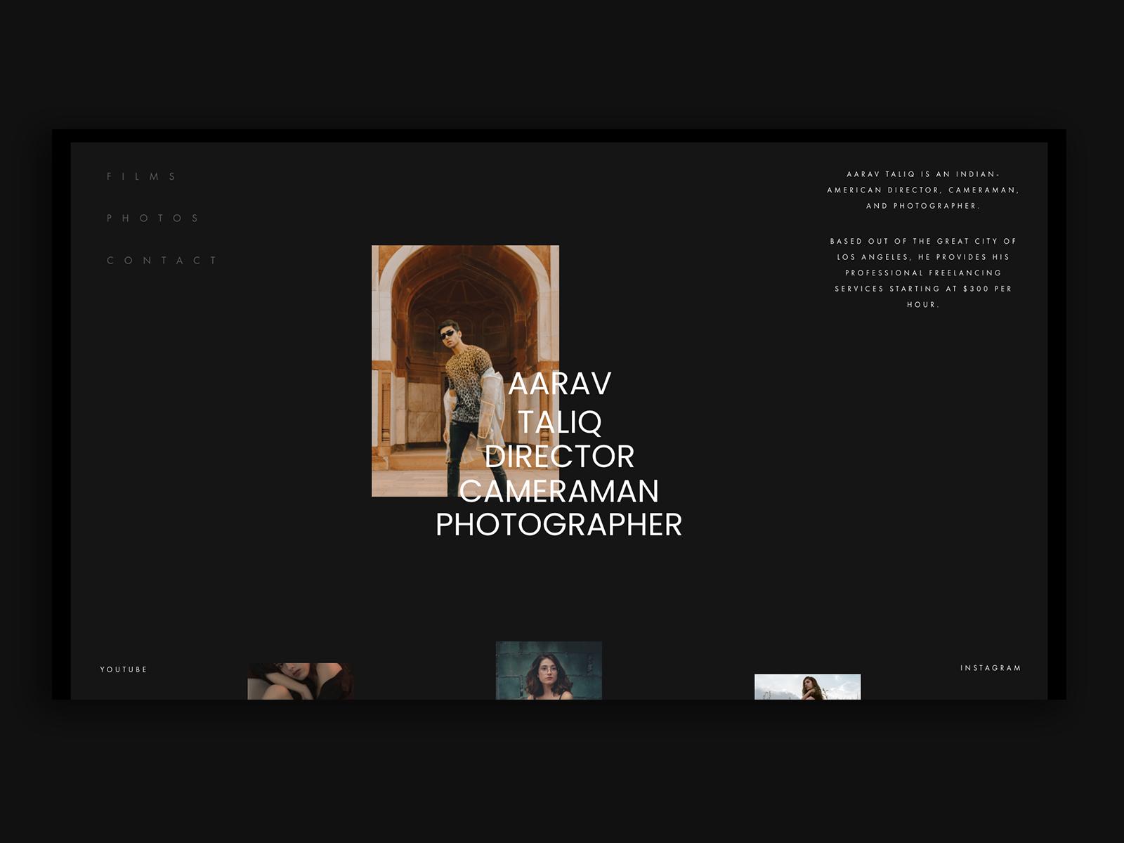 Portfolio Website - Personal Website Homepage