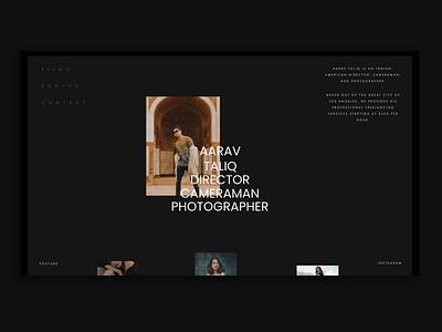 Portfolio Website - Personal Website Homepage black website dark web typography adobe xd interface minimal website web design ux ui portfolio site portfolio design portfolio