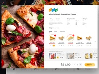 Food delivery. The pop-up with product customization.