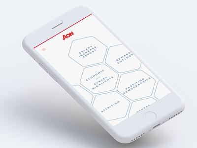 AON - Mobile App design material flat studio app clay gurgaon grappus aon ux ui