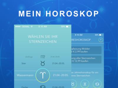 Mein Horoscope design material flat studio app gurgaon grappus horoscope ux ui