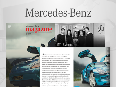 Mercedes-Benz android ios grappus website magazine web benz mercedes ux ui