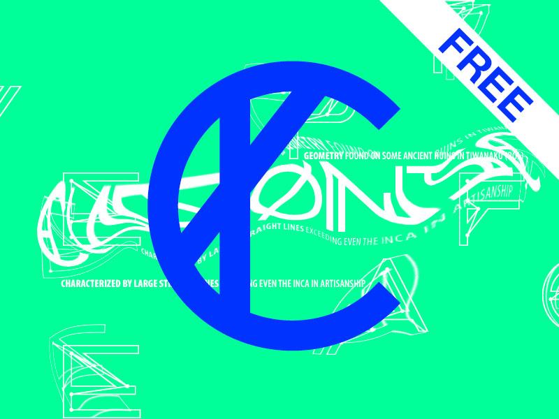 CHRONIC Typeface (FREE) free font chronic typeface experimental type noem9 display geometry