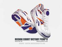 #010/053 Reebok Court Victory Pump II