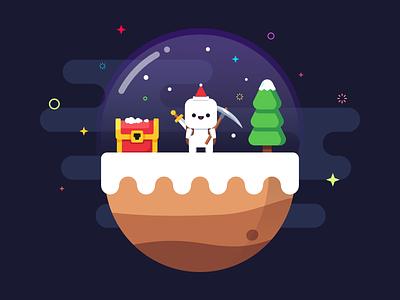 Forager christmas affinitydesigner illustration mbe style vector