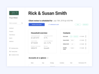 UX/UI design for a Wealth Management Group