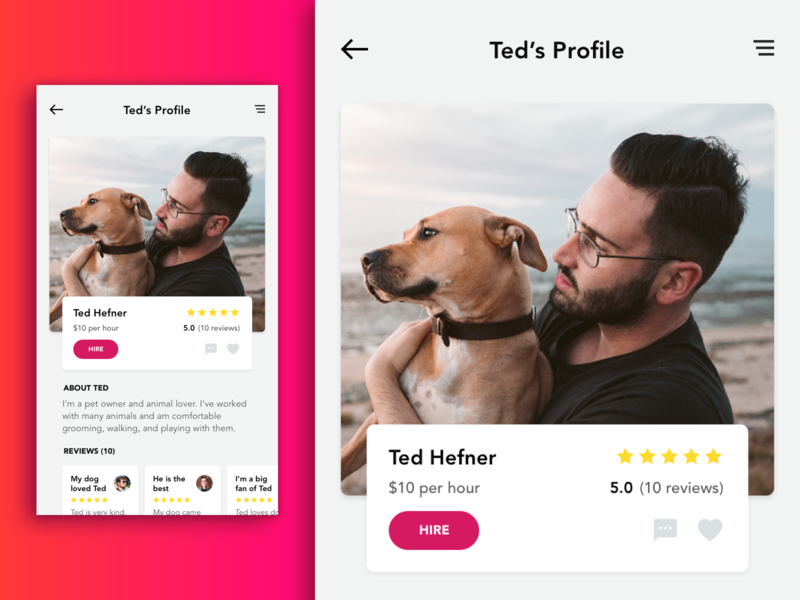 IOS App - Dolker - Dog walker finding app pet care pet dog native vibrant iphone minimal app interface ux design ui clean flat ios app ios