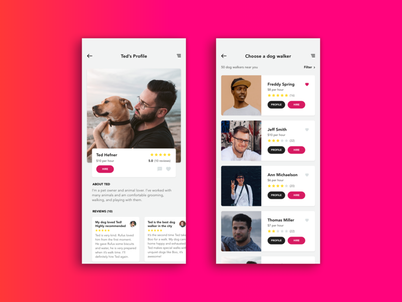 IOS App - Dolker - Dog walker finding app by Adrian Salazar