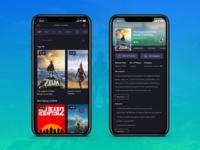 Gaming IOS App - List & Detail view