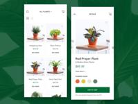 Ecommerce mobile website - PlantArt 🍃
