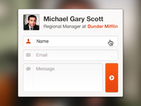 Quick Contact Form UI/UX