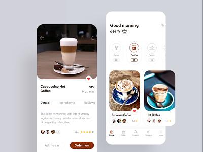 Coffee Application Design coffee ingredients app coffee details screen clean app design coffee app caffeine  card  clean ios 12 coffee near shop app coffee shop app coffee application design