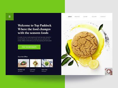 Food Website Design food order  graphic design user interface  ux  web ui  user experience restaurant  tasty typography  ui webdesign minimal layout food website food website design