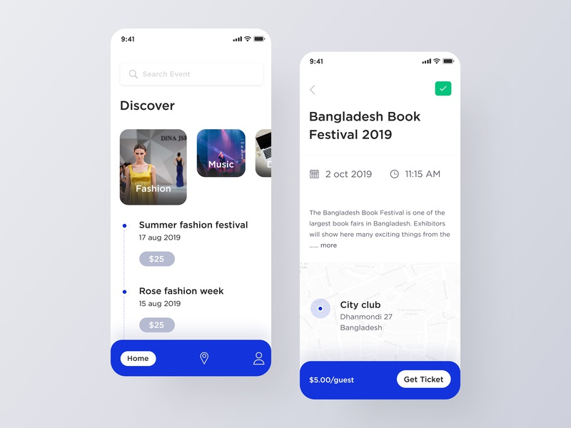Event Application Design mobile app design uidesign uiux product design event details screen event home screen events festival app event application design user interface user experience discover app events app