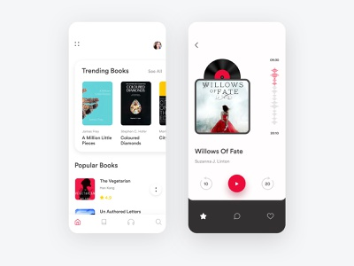 Book Application Design app design audio app trending book application design audio player popular book app mobile app design user interface user experience audiobook book application design