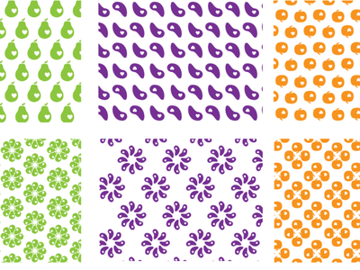 Pattern for nutritionist branding