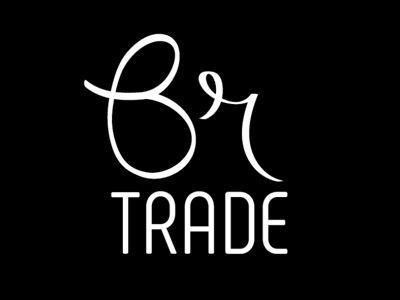 Br trade brand design hand drawn brand design typography