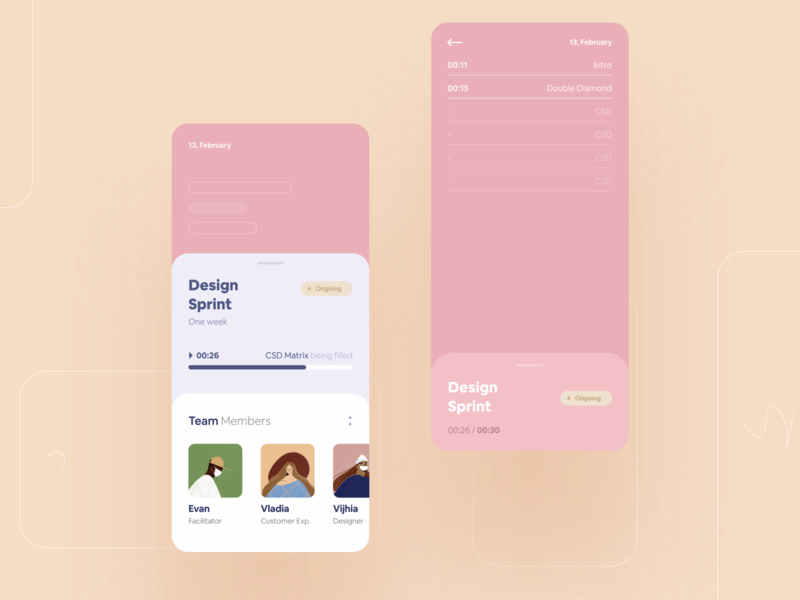Design Sprint rounded sprint mobile