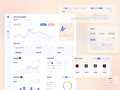 Demand-Side Platform [Project Available] download card graph web illustration campaign advertisement ad dashboard