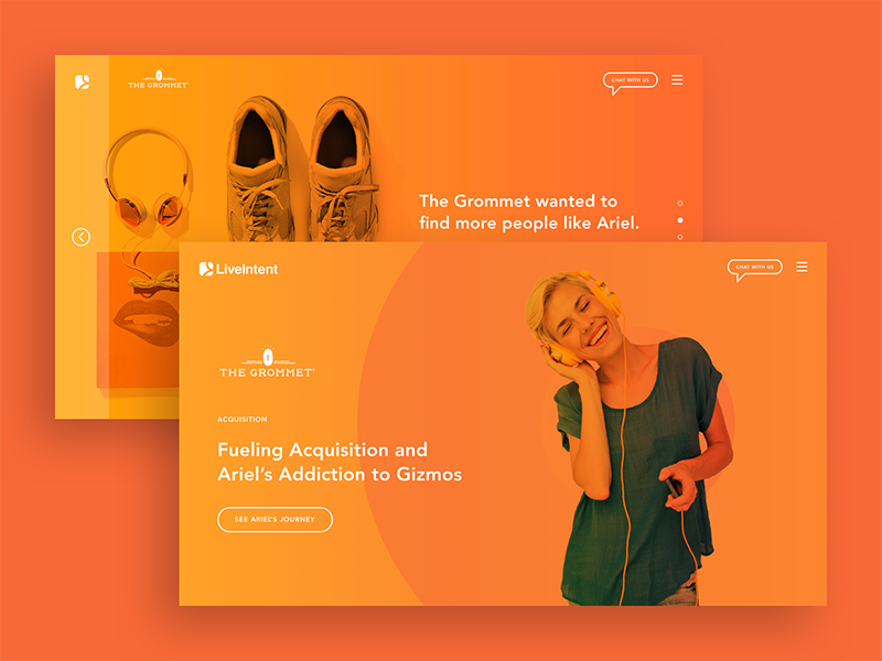 From Case Studies to Customer Journeys product gradient ui graphic design web design case study