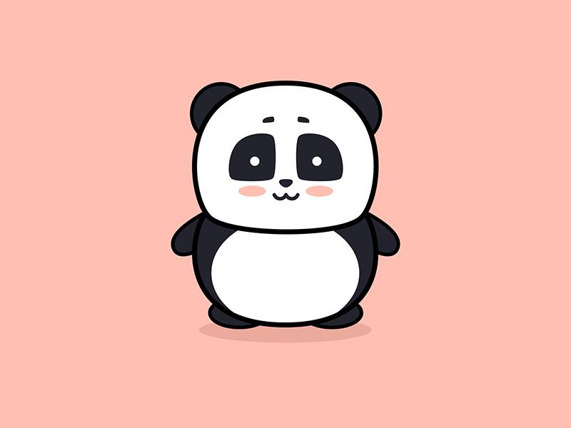 Panda Illustration pastel graphic design design draw character bear kawaii animal cute drawing illustration panda