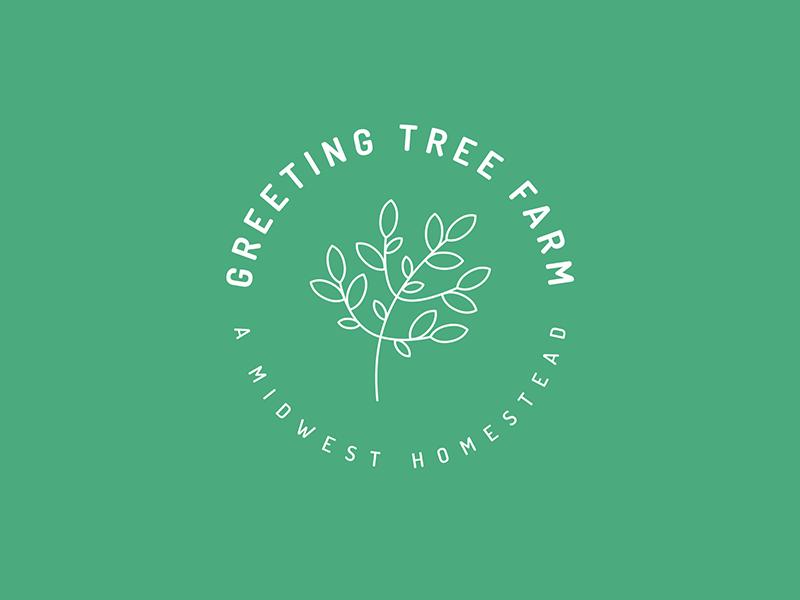 Greeting Tree Farm Logo identity tree leaf green design graphic graphic design farm organic logo branding brand