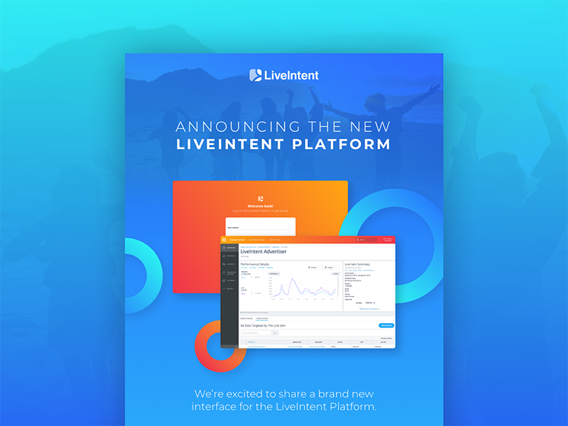 New LiveIntent Platform email orange blue gradient layout interface design web graphic ui platform