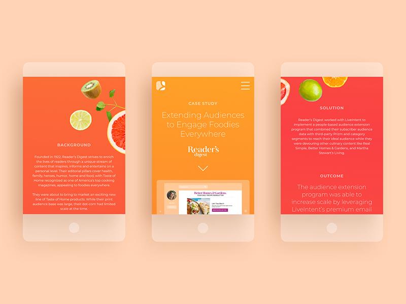 Digital Case Studies digital gradient typography blog branding advertising marketing ui food web mobile case study