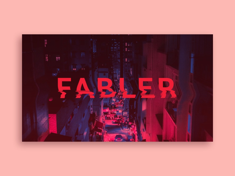 Fabler Poster Concept logo branding brand neon red pink typography glitch warp photography design graphic design graphic poster