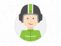 Gojek Motorcycle Taxi Driver