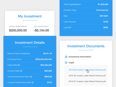 Investment SIdebar