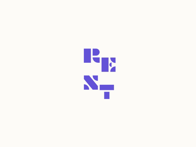 Animated thingy logo blockletters typography branding motion