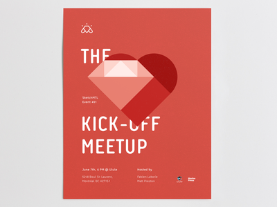 SketchMTL - Kick-Off Meetup Poster illutration ux ui mtl canada quebec montreal community invision craft sketch app sketch