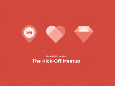 SketchMTL - Kick-Off Meetup Visuals illutration ux ui mtl canada quebec montreal community invision craft sketch app sketch