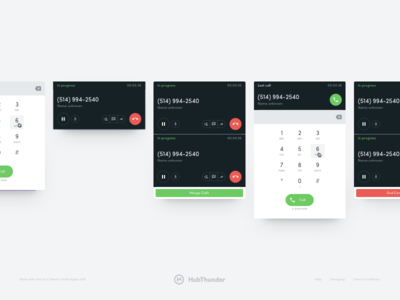 HubThunder - Call Card design system component product startup material cards toolkit ui