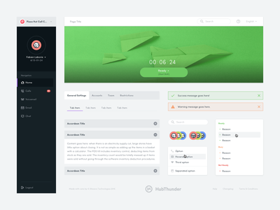 HubThunder - UI Toolkit admin atomic style guide guidelines design system component product startup material cards toolkit ui