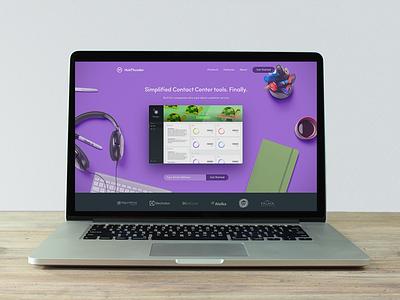 HubThunder - Landing Page admin desktop app telecom mockup header splash design ui website landing page