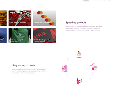 zeroheight - Landing page template sketch symbols styleguide invision design system b2b marketing landing ui design