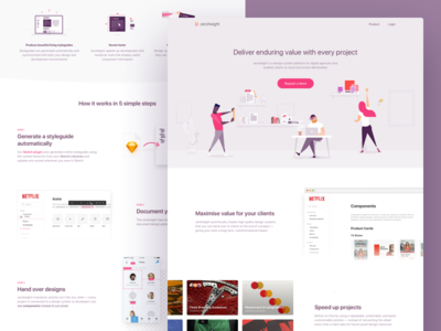 zeroheight - Landing page template sketch symbols styleguide invision design system b2b marketing landing ui design