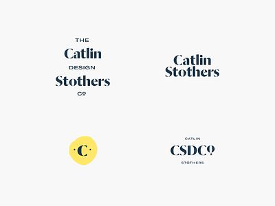 Catlin Stothers Branding typography modern art serif hipster industrial logo branding