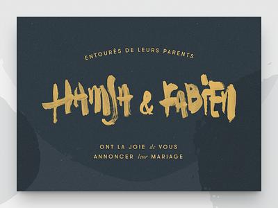 Wedding invite calligraphy faire-part event rsvp design invite brushpen lettering wedding