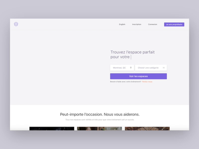 ENTR — Video app ui product motion map location purple events coworking spaces branding