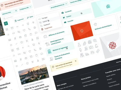 City of Montreal design system branding styleguide icons material ui components design systems