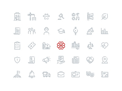 City of Montreal Icon Set design system lines linework line art iconset iconography icons