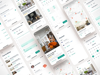 Uplet app screens app design booking map calendar screens ui mobile ios app