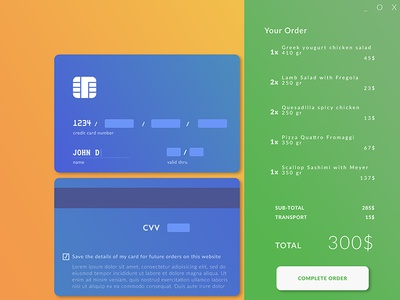 Ui002 - Credit Card Checkout