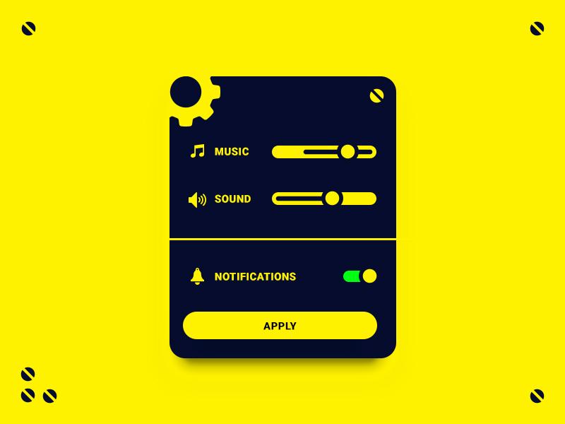Ui007 - Settings sound music page settings 007 dailyui