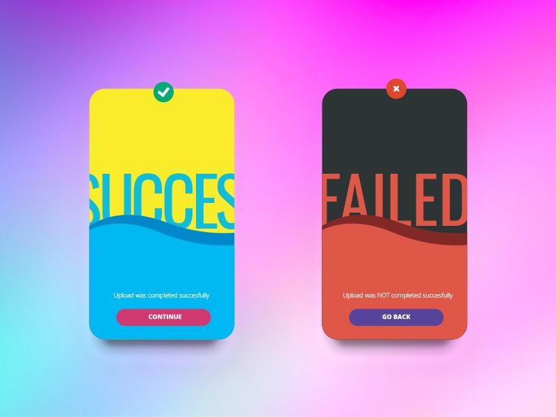 Ui011 - Flash Message (Error/Success) failed succes error page flashmessage 011 dailyui