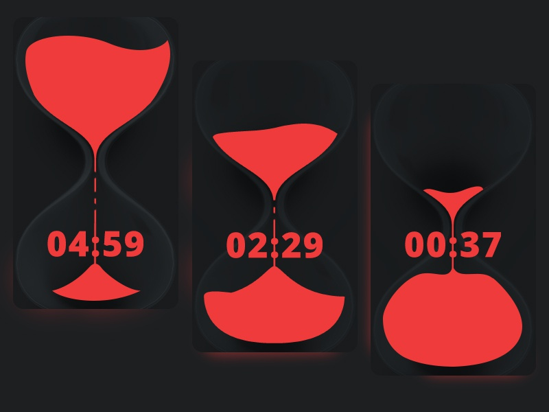 Ui014 - Countdown Timer timerred red timer countdown 014 dailyui