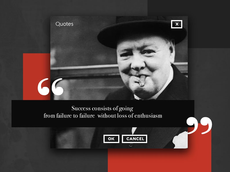 Ui016 - Pop-Up / Overlay churchill quotes overlay popup 016 dailyui
